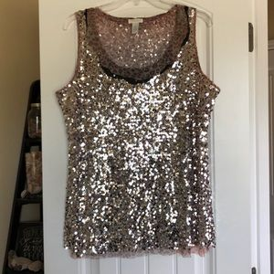 Plus size tank - leopard print AND sequins!!!